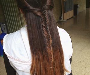 braids, brunette, and summer image