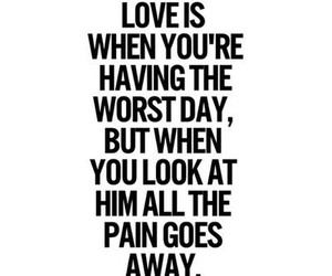 love, quote, and pain image
