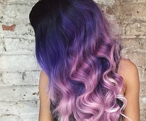hair, purple, and pink image