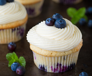 cupcake, blueberry, and delicious image