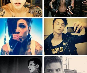 andy, Collage, and black veil brides image