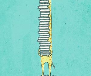 book, giraffe, and cute image