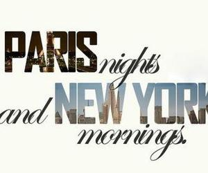 paris, new york, and night image