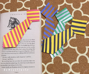 book, bookmark, and tie image