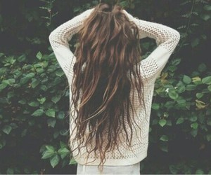 beautiful, brown hair, and beauty image