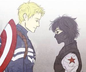 captain america, nico di angelo, and jason grace image