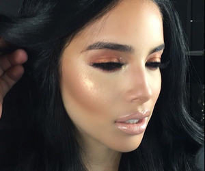 makeup, beauty, and brunette image