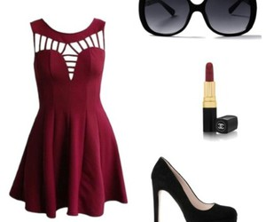 dress, make up, and outfit image