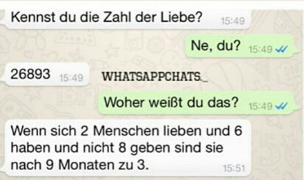 whatsapp chat liebe