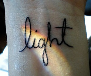light, tattoo, and rainbow image