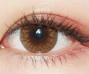 eye, girl, and pink image