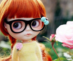 glasses, doll, and fashion image