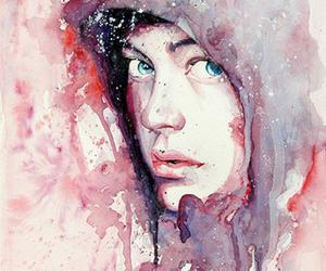 art, watercolor, and boy image