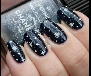 nails, black, and stars image