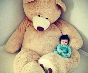 baby, cute baby, and tedy bear image