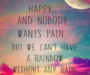 quote, rain, and happiness image