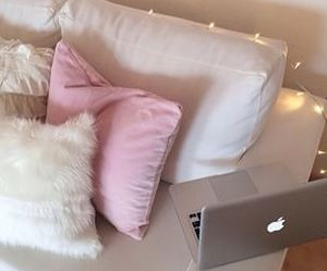 pink, apple, and room image