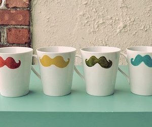 cup and mutache image