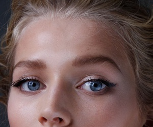 beauty, model, and eyes image