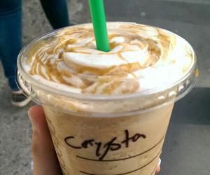 london, starbucks, and frappuccino caramel image