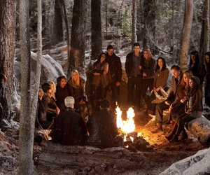 breaking dawn, campfire, and people image