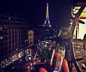 paris, night, and luxury image