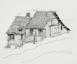 art, barn, and draw image
