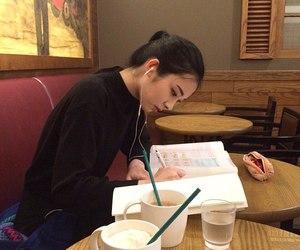 girl, asian, and study image