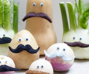 eyes, moustache, and vegetables image