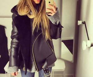 fashion, hair, and jacket image