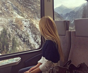 girl, travel, and blonde image