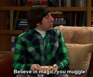muggle, harry potter, and the big bang theory image