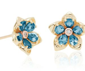 bling, earrings, and forget me not image