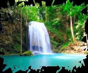 eau, nature, and cascade image