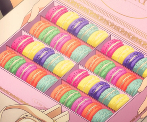 pastel, pink, and anime food image