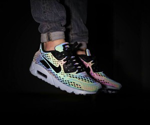colors, nike, and sky image