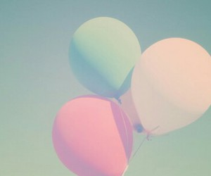 balloons, picture, and pastel photography image