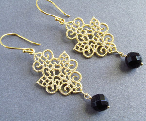 etsy, handmade jewelry, and gold earrings image