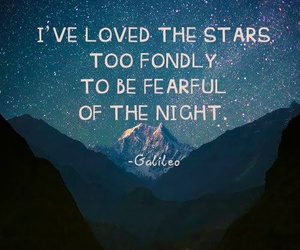 quote, stars, and galaxy image