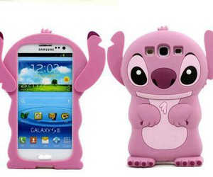 case, pink, and stitch image