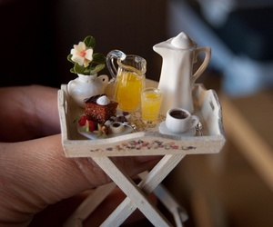 breakfast, miniature, and cute image