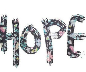 hope, flowers, and quote image