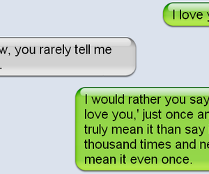 love, text, and I Love You image