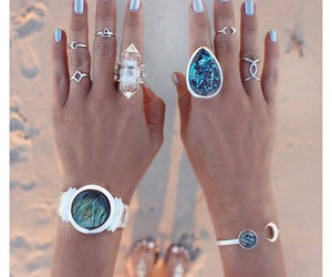 beautiful, beach, and nails image
