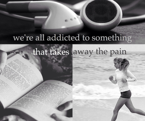 addicted, addiction, and headphones image
