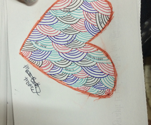 color, draw, and heartbroken image