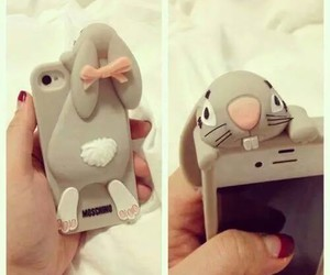 iphone, bunny, and rabbit image