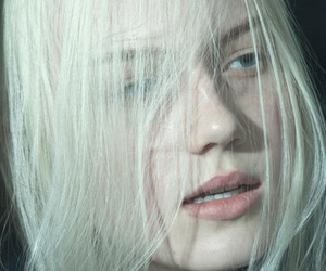 pale, white hair, and hair image