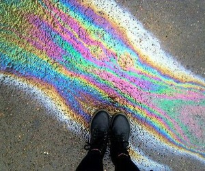 rainbow, grunge, and black image