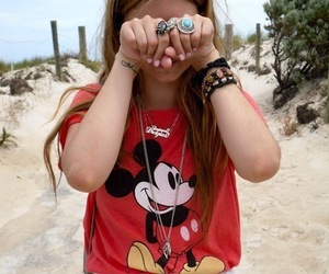 girl, beach, and rings image